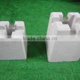 Wooden block house concrete building block