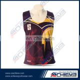 custom sublimation 100% polyester hot sell men's lacrosse tops