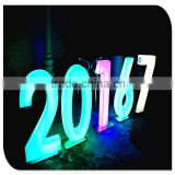 colorful front lit back lit light up small LED lighting numbers sign made in china