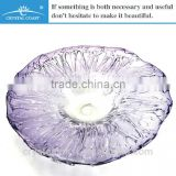 hand blown layer windmill series decorative art purple glass wall plate of us east coast ports