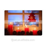 Modern festival painting,christmas tree canvas oil painting with LED light