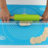 23cm length small size silicone non-stick rolling pin for pastry rolling