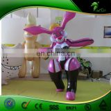 Customized Hongyi Inflatable Fox Suit , Hot Sale Sexy Animal Pink Costume