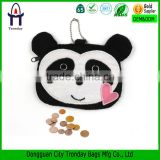 Panda coin pursecoin sorter purse, coin purse with metal ball chain