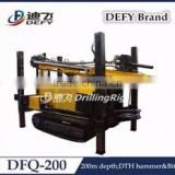 200m Dfq-200 DTH Portable Used Water Bore Well Drilling Machine Prices for Sale with Air Compressor