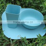 Traditionary Affordable Reusable bamboo fiber tableware set