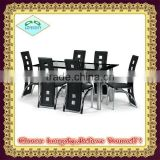 modern dining table with tempered glass top dining room furniture set dining table
