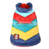 The rainbow between cotton-padded clothes Pet Application, Dog Clothes Christmas Gift for Dog
