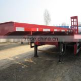 used 11m truck trailer for transportation/ secondhand 40ton lowbed flatbed trailerin top performance
