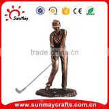 Resin sports trophy for golf