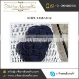 Navy Blue Trendy Nautical Handmade Rope Coaster in Bulk