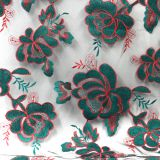China manufacture India flower mesh net embroidered lace fabric for garment