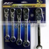 5pcs Flexible Gear Spanner Set
