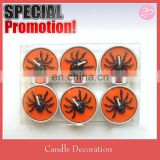 Black color spider style Tea light candle for Halloween decoration