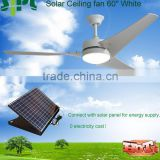 Vent tool best selling decorative fan design 60 inch 30 watt solar panel powered solar ceiling fan
