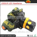 OEM XML-T6 LED Dimmable Zoom 1000 Lumen Frontal Head Torch Light Powerful Headlamp