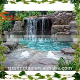 Hot sale FRP reinforced concrete Artificial Large outdoor hot spring Waterfall rockies fountain
