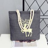 High Quality Customized Heavy Duty Cotton Canvas Tote Handbags for Women