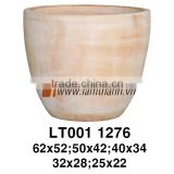 East Asia Egg Shaped Classic White Wash Flower Pot