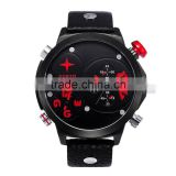 calendar leather men sports 2016 men watcherproof japan movt quartz watches men brand