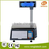 weighing scale label printing barcode printing fit for retail supermarket