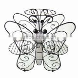 3 pots or 3 tier Metal Butterfly flower shelf wrought iron Plant Stand