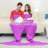 Lover sleeping bag double fuchsia mermaid tail blanket