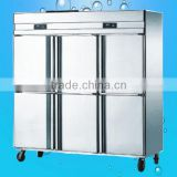 Commercial Stainless steel 6 door Refrigerator Freezer(ZQR-1.6L6)