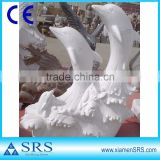 White marble dolphin stone sculpture