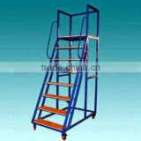 warehouse mobile platform ladder cart