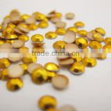 Gold Octagon China quality Aluminum Gold 3mm Rhinestud Hot Fix Octagon