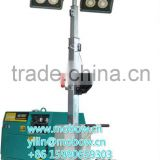 Diesel Gasoline generator inflatable portable Mobile led light tower Metal halide lamp