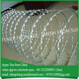 Galvanized Airport fencing welded wire mesh fence with razor wire