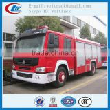 high performance 4x2 266hp 8cbm howo fire fighting truck for sale