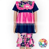 2017 Summer Boutique Clothing Set Ruffle Top And Shorts Two Pieces Girls Outfits