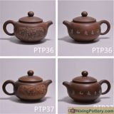 Beautiful Hand Carving Modern China New Design Round Tea Pot Tea Ware