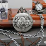 Hot Sale Game The Witcher Anime Fancy Silver Pocket Watch