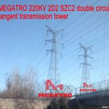 220KV 2D2 SZC2 double circuit tangent transmission tower