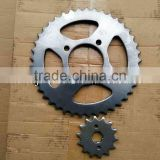 boxer motorcycle sprocket set/ct100 chain sprocket/shine sprocket chain kits