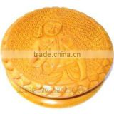 Hand made carved caima wood tobacco grinder