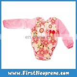 Eco-Friendly With Sleeves In Pink Neoprene Fashion Design Baby Bibs