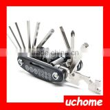 UCHOME Bike Repair Kit,15 in 1 Bike Bicycle Multi Repair Tool Kit,Bicycle Tool Repair Set