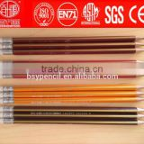 HB 2.0mm gold striped wooden pencil