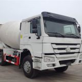 HOWO 10 WHEELS CONCRETE MIXER TRUCK LOADING 8CBM