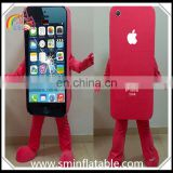 Colourful mobile phone mascot costume, adult fur moving costume