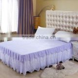 Luxury star hotel bed skirt with embroidery