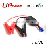 high capacity 12000mAh 12v lithium ion battery FCC, CE-EMC/SGS/ITS Certification mini car jump starter with battery cable