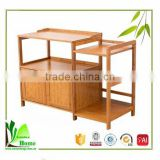 High quality family life use multifunction bamboo corner kitchen shelves