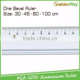 30 cm and 45 cm customized promotional silk printing measuring bevel aluminum metal scale ruler