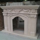 Natural Stone Fireplace with granite and marble limestone travertine